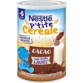 Nestlé Nestlé P'tite céréale au cacao en poudre dès 6 mois 400g