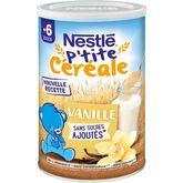 Nestlé Nestlé P'tite céréale à la vanille en poudre dès 6 mois 400g