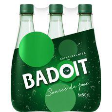 Badoit Eau minérale gazeuse verte finement pétillante bouteilles 6x50cl