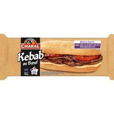 CHARAL Kebab au boeuf pain moelleux fines lamelles de boeuf grillées  1 pièce 165g