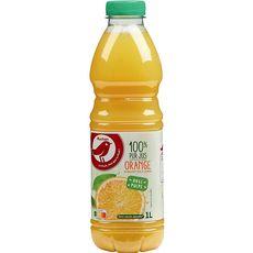 Auchan pur jus d'orange avec pulpe 1l