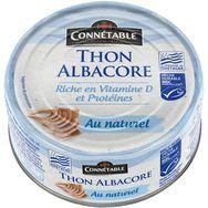 Milka Connétable Thon albacore MSC au naturel pêche durable 112g