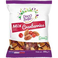 DACO BELLO Mix cranberries, amandes et noix de pécan 350g