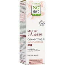 So'Bio étic Crème masque de nuit récupératrice tous types de peaux 50ml