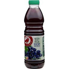 AUCHAN Pur jus de raisin noir muscat 1l