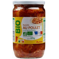 Auchan raviolis au poulet bio 670g