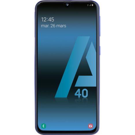 SAMSUNG Smartphone - GALAXY A40 - 64 Go - 5.9 pouces - Bleu - 4G - Double port nano SIM