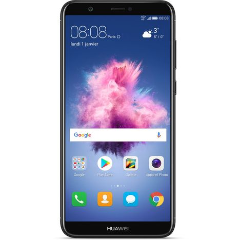 HUAWEI Smartphone Pack P SMART - 32 Go - 5,6 pouces - Noir & Etui folio