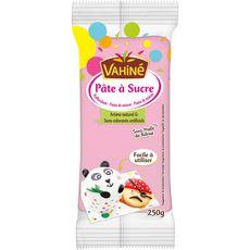 Vahiné pâte à sucre rose goût vanille 250g