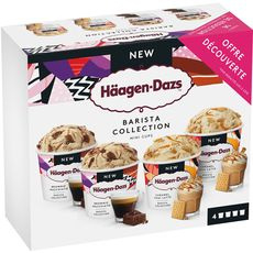 HAAGEN DAZS Mini pot de crème glacée barista collection 4 mini pots 318g