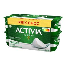 ACTIVIA ACTIVIA Yaourt bifidus nature 16x125g 16x125g