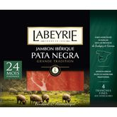Labeyrie jambon pata negra 4 tranches fines 60g