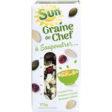 SUN SSun graine de chef courge cranberries amandes effilées 175g