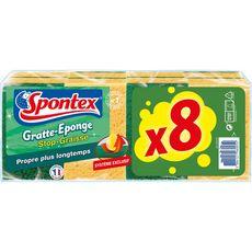 SPONTEX Spontex gratte éponge stop graisse x8