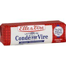 Elle & Vire beurre laiterie de Condé-Sur-Vire demi-sel -250g