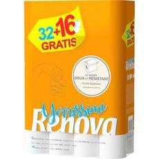 RENOVA Renova Yorrissime Papier toilette doux et résistant double épaisseur x48 48 rouleaux
