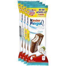 KINDER PINGUI Gâteau frais au lait et chocolat coco 4x30g