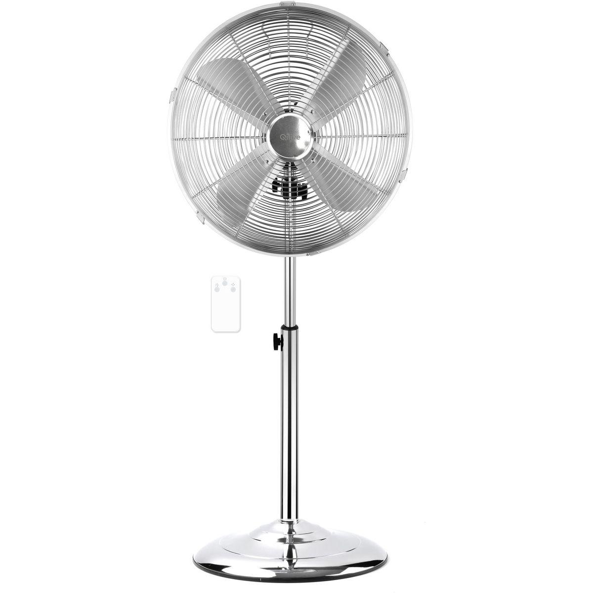 Ventilateur sur pied Q.5140/134482 - Chrome