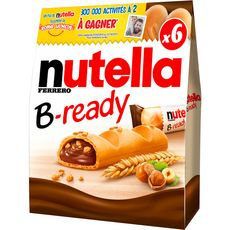 Nutella B-Ready gaufrettes fourrées de pâte à tartiner 6 biscuits 130g