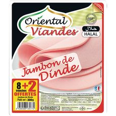 ORIENTAL Oriental jambon de dinde tranche x8 +2 offerte 300g