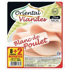 ORIENTAL Oriental blanc de poulet tranche x8 +2 offertes 300g