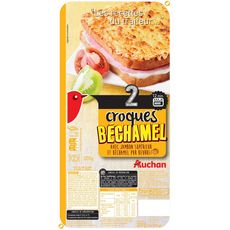 AUCHAN Croque béchamel au jambon 2 pièces 320g