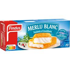 Findus pané de merlu blanc x10 -510g