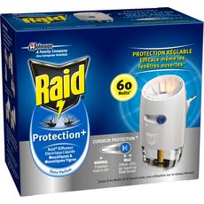 Raid Diffuseur électrique anti-moustiques avec curseur de protection x1