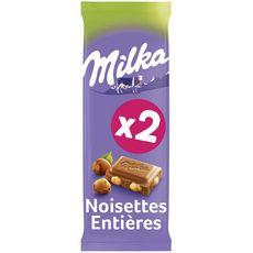 Milka chocolat au lait noisettes 2x100g
