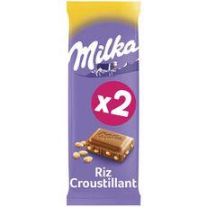 Milka chocolat au lait et riz croustillant 2x100g