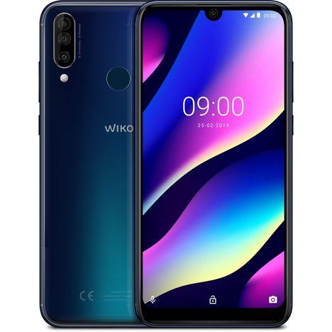 WIKO Smartphone - VIEW3 - Bleu - 64 Go - 6.26 pouces - 4G - Nano Sim ou carte microSD