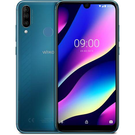 WIKO Smartphone - VIEW3 - Turquoise - 64 Go - 6.26 pouces - 4G - Nano Sim ou carte microSD