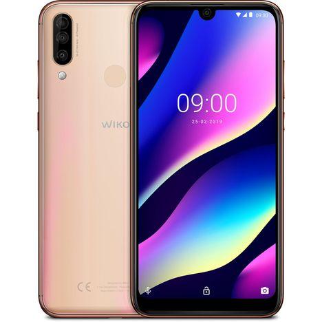 WIKO Smartphone - VIEW3 - Or - 64 Go - 6.26 pouces - 4G - Nano Sim ou carte microSD