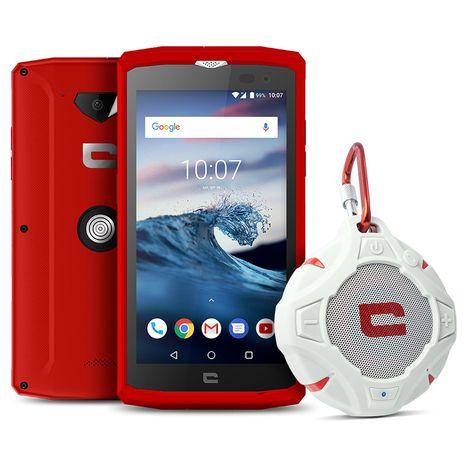 CROSSCALL Smartphone - CORE-X3 - IP68 - Rouge - 16 Go - 5 pouces - 4G - Nano Sim ou carte microSD + Enceinte flottante X-WAVE - IP67