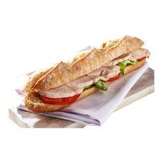 Sandwich demi baguette au poulet et crudités 239g