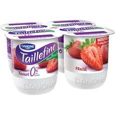 Taillefine 0% yaourt allégé aux fruits fraise 4x125g