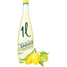 BADOIT Eau minérale gazeuse aromatisée citron, citron vert 1l