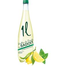 BADOIT Eau minérale gazeuse aromatisée au citron et menthe 1l