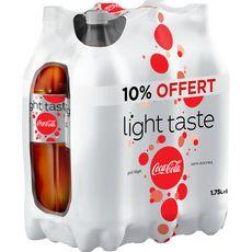 COCA-COLA Boisson gazeuse aux extraits végétaux light dont 10% offert 6x1,75l