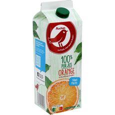 AUCHAN Pur jus d'orange sans pulpe brique 2l