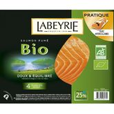 Labeyrie saumon fumé bio tranche x4 -120g
