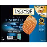 Labeyrie saumon fumé de Norvège x4 -130g