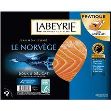LABEYRIE Saumon fumé de Norvège 4 tranches 130g