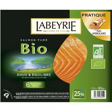 LABEYRIE Labeyrie saumon fumé bio tranche x6 -195g