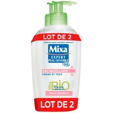 Mixa Bio Eau micellaire aloe vera et glycérine peaux sensibles 2x200ml