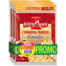 ENTREMONT Entremont Emmental Français râpé extra fin 3x160g 3x160g