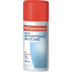 Mercurochrome spray antiseptique incolore 100ml