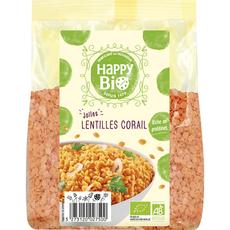 HAPPY BIO Lentilles corail 500g