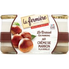 La Fermière yaourt aux marrons 2x160g