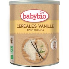 Babybio céréales en poudre vanille bio 220g dès 6 mois